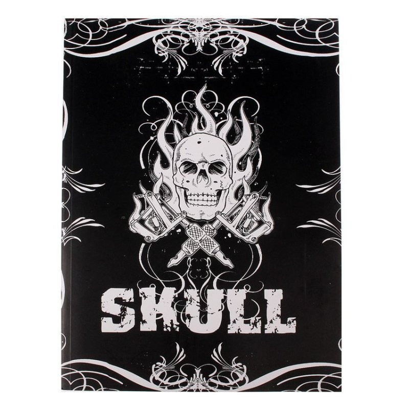 FSH Skull Design Sketch Book Tattoo Works Art Supplies A4 76 Pages