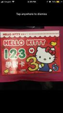 Hello kitty 123 Flash Card