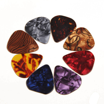 Harga Hequ Multicolor Celluloid Acoustic Electric Guitar Picks PlectrumsS 0.46mm Color Random - intl