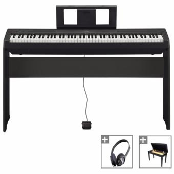 Harga Yamaha P-45 Digital Piano (Black) with Stand & Storage Bench