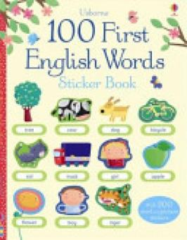 Harga 100 First English Words Sticker Book