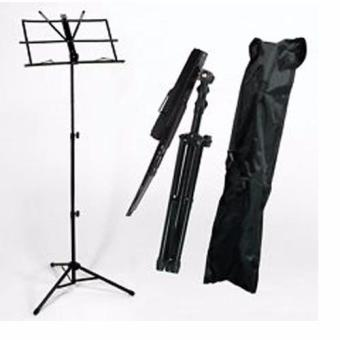 Harga Economical Music Stand Compact Music Stand Adjustable Height Tripod Base provides sturdy tip-resistant support