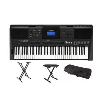 Harga Yamaha PSR-E453 Portable Keyboard - With Keyboard Stand, Bench & Bag