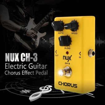 Harga NUX CH-3 Guitar Electric Effect Pedal Chorus Low Noise BBD High Quality True Bypass Yellow Outdoorfree - intl