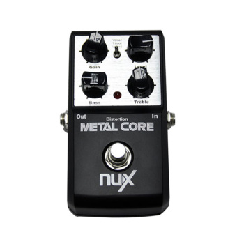 Harga NUX Metal Core Distortion Effect Pedal 2-Band EQ Tone Lock Preset Function True Bypass - intl