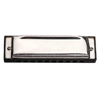 Harga Gracefulvara Swan Harmonica 10 Holes Key of C Blues Rock Jazz Harmonica with Case - Silver