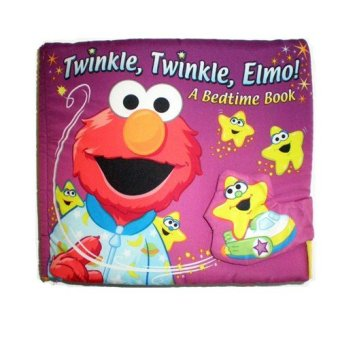 Soft Play Baby Infant safe cute Educational Cloth Book (Twinkle Twinkle Elmo A Bedtime Book)(Export)