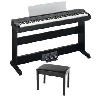 Harga Yamaha P-255B Digital Piano - With Piano Stand & Bench (Black)