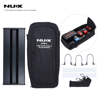 Harga NUX STB-4 Aluminum Alloy Guitar Effect Pedal Board with Portable Carring Bag Case Box / 2 Fastener Tape / 3 Cables - intl