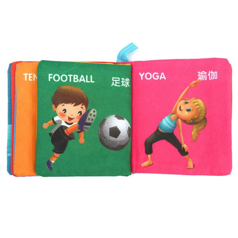 JOR Soft Cloth Educational Intelligence Development Learn Cognize Book For Kids Baby Sports