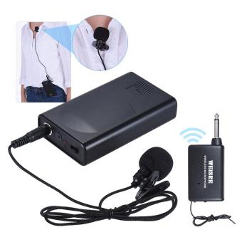 Portable Lavalier Lapel Collar Clip-on Wireless Microphone VoiceAmplifier for Lecture Conference Speech Promotion Outdoorfree