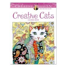 Rorychen 24 Pages 185 21CM Secret Garden Creative Cats Color Painting The Children Graffiti