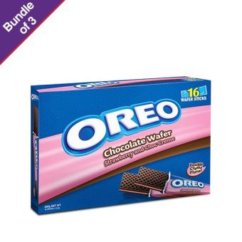 Oreo Strawberry Wafer 232g - Bundle of 3