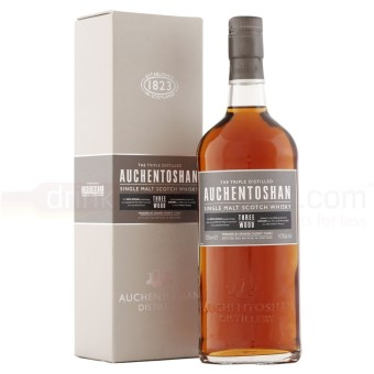 Harga Auchentoshan Three Wood Lowland Single Malt Scotch Whisky 700ml