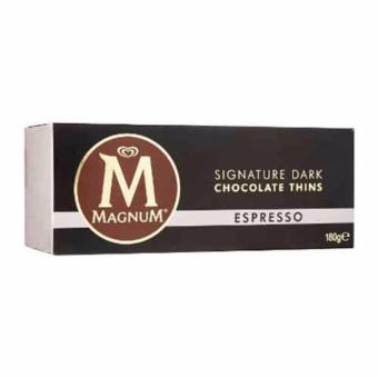 Harga Magnum Espresso Chocolate Thins 180g