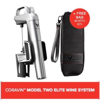 Harga CORAVIN™ MODEL TWO ELITE WINE SYSTEM SILVER (Includes A Free Bag)
