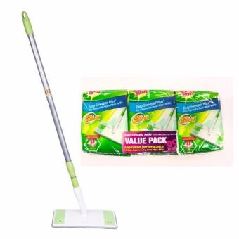 Harga [ Value Set ] 3M™ Scotch-Brite™ Easy Sweeper Plus Starter Kit + Dry Refills