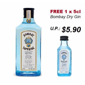 Harga Bombay Sapphire Dry Gin 75cl