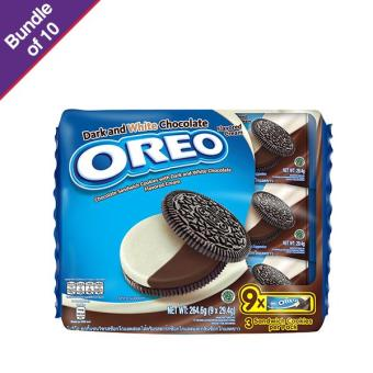 Oreo Dark & White Chocolate 264.6g - Bundle of 10