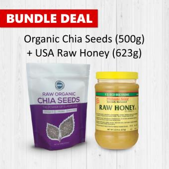 Harga Bundle Deal: Organic Chia Seeds 500g + USA Raw Honey 623g