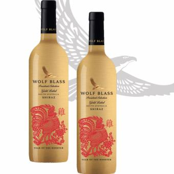 Harga [Limited time 2 bottles Offer] Wolf Blass President's Selection Gold Label Shiraz (Year of the Rooster)