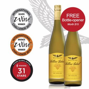Harga [2 bottles Offer] Wolf Blass Yellow Label Riesling (750ml)