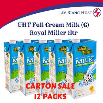 Harga UHT Full Cream Milk - Royal Miller 12x1ltr.