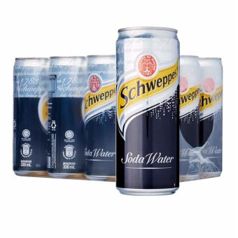 Harga Schweppes Soda Water 24 Cans x 330ml