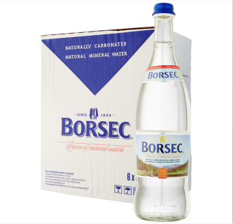 Harga Borsec (Sparkling) Naturally Carbonated Natural Mineral Water (case 6 x 750ML) glass