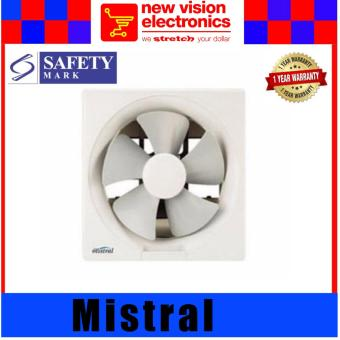 1 Year SG Warranty. Mistral MEF8210 10 inch Wall Exhaust Fan. PSB Safety Mark Approved.