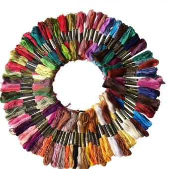100 Pcs Cross Stitch Cotton Embroidery Thread Floss Sewing SkeinsCraft - intl
