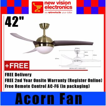 Harga Acorn Ventilateur 238 Ceiling Fan With E27 Light Kit Housing. 42 Inches (AB). 2 Years Warranty. Safety Mark Approved. Lifetime Warranty on Motor.