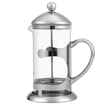 Cyber HOMDOX French Press Coffee Espresso Maker 1000ML StainlessSteel Heat Resistant Glass Carafe Kettle with Plunger