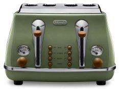 DeLonghi Icona Vintage CTOV4003GR Toaster Green
