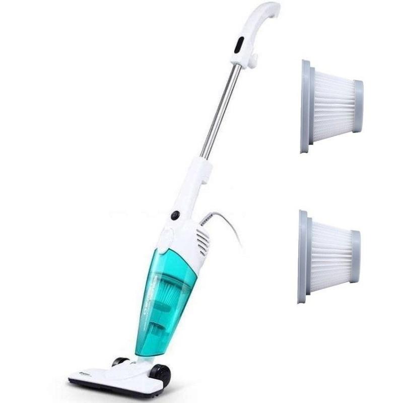 Deerma DX118C 2 in 1Push-Rod Handheld Vacuum Cleaner (Blue) + Extra 2 Pcs Filter  - intl Singapore