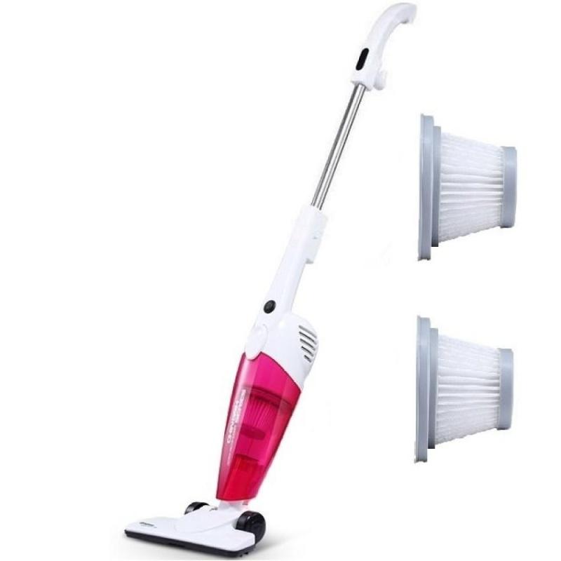 Deerma DX118C 2 in 1Push-Rod Handheld Vacuum Cleaner (Pink) + Extra 2 Pcs Filter  - intl Singapore