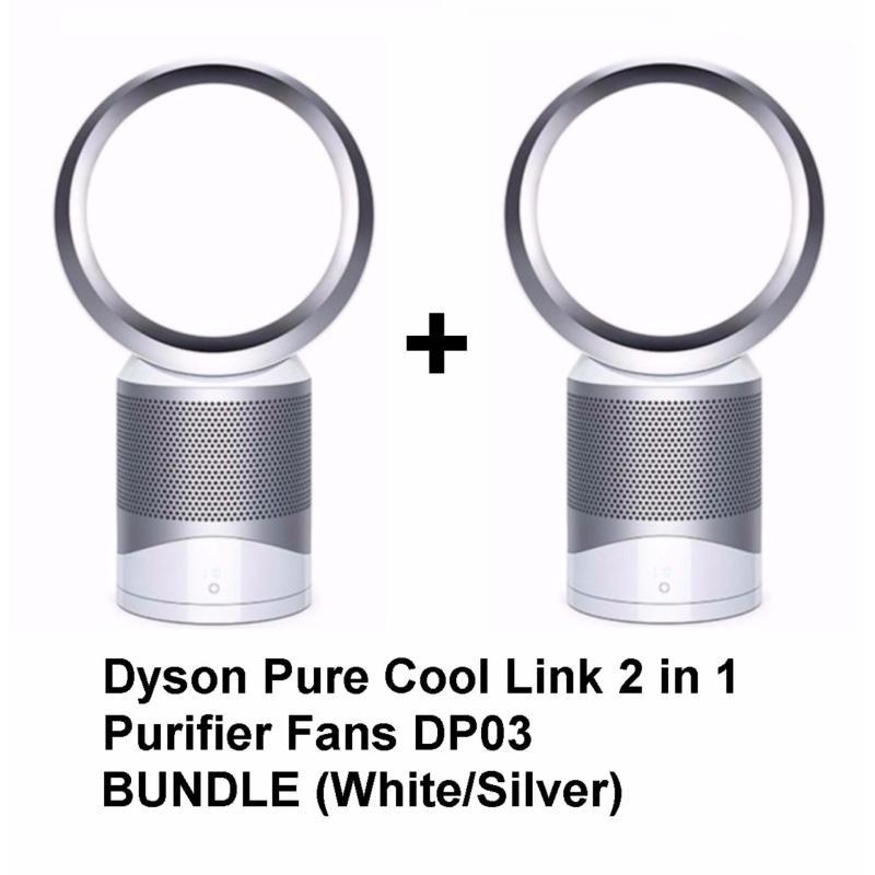 Dyson Pure Cool Link 2 in 1 Purifier Fans DP03 Bundle (White/Silver) Singapore