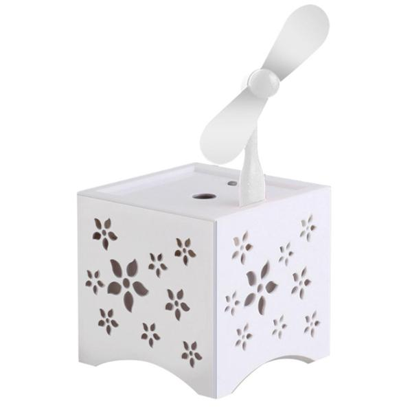 Electric Air Mist Maker USB Humidifier (White) - intl Singapore