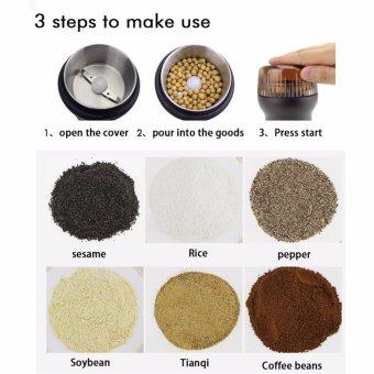 Electric Multifunction Coffee Grinder Maker Bean Grinder PowderMill with Stainless Steel Tank LP-B(Brown) - intl - 4