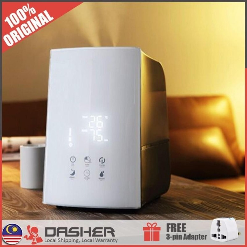 [Free Gift] Deerma High End Air Humidifier Purifier Ionizer Touch Screen 4.9L Auto Cut Off (3-pin Adapter)  - intl Singapore