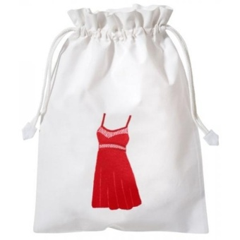 Hand Embroidered Cotton Lingerie Travel Organizing Laundry Bag - intl