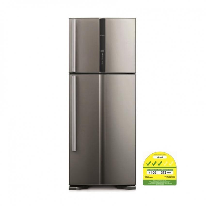 hitachi refrigerator. hitachi 2 door inverter refrigerator 450l r-v560p3msx-inx (inox steel) with free blender | lazada singapore