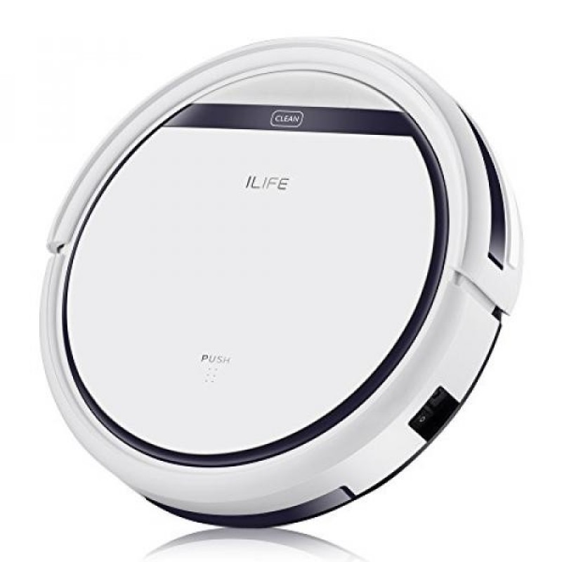 ILIFE V3s Pro Robotic Vacuum, Newer Version of V3s, Pet Hair Care, Powerful Suction Tangle-free, Slim Design, Auto Charge, Daily Planning, Good For Hard Floor and Low Pile Carpet - intl Singapore
