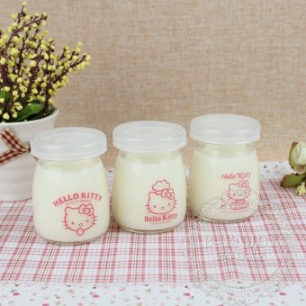 Harga Cute chocolate mousse bottle pudding bottle