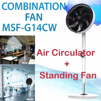 Harga MN Elect Korea MSF-G14CW Combination Standing Fan and Air Circulator - intl