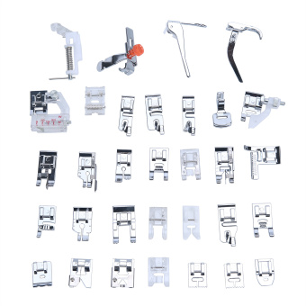 Harga niceEshop 32pcs Domestic Sewing Machine Presser Foot Set Kit For Janome Brother Singer NewHome Elna, Toyata, Singer