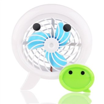 Harga Portable USB Powered Mini Electric Fan Desk Fan (White) - intl