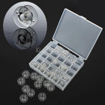 leegoal 25pcs Sewing Machine Bobbins With Storage Box(Not Include Sewing Thread) - intl - 3