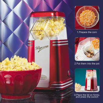 Harga Nostalgia RHP310 Retro Series Electric Household Mini Hot Air Popcorn Maker Machine Corn Popper - intl
