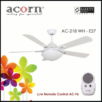 "Harga Acorn AC-218 Ventilateur E27 42"" Decorative Ceiling Fan c/w Remote Control (White)"